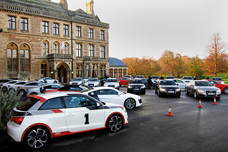 Audis lined up for test driving