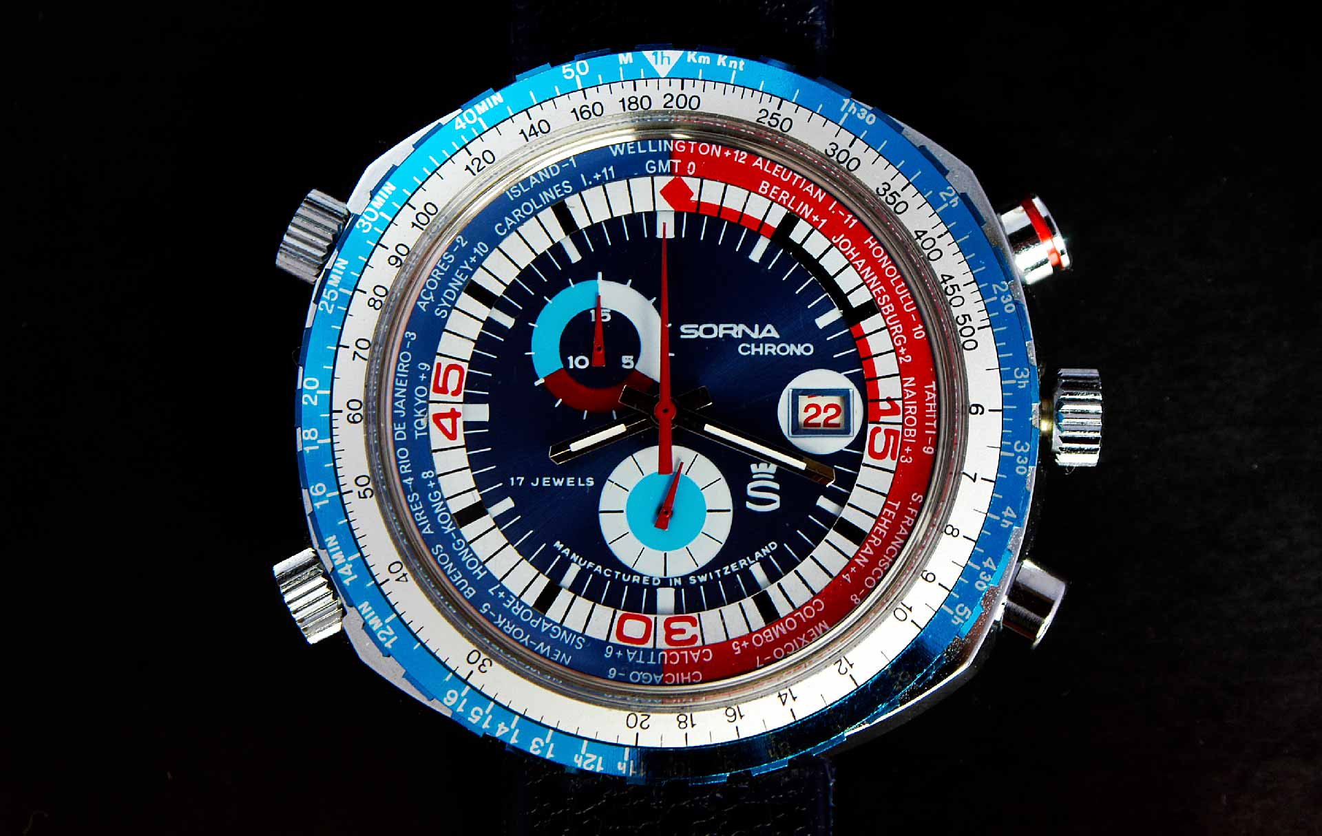 Sorna World Time watch
