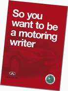 So you want to be a motoring writer booklet